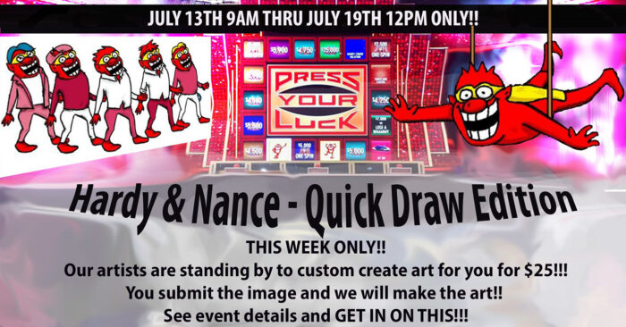 Press Your Luck Quick Draw Event