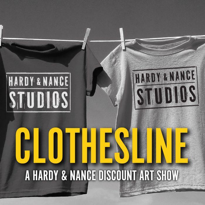 clothesline art show